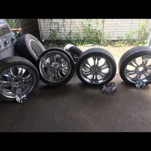 Brand new low profile 20 inch tires with rim